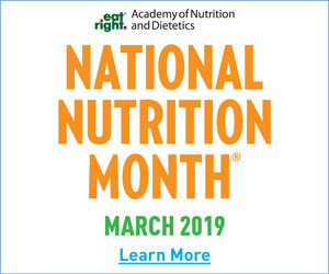 March is National Nutrition Month In the USA